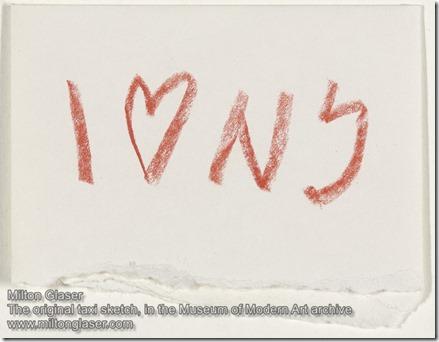 Milton Glaser ILoveNY sketch