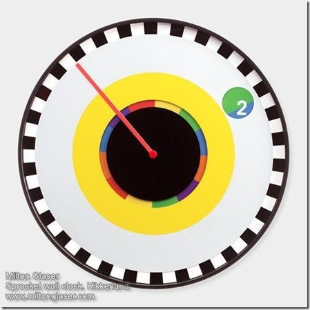Milton Glaser Sprocket wall clock