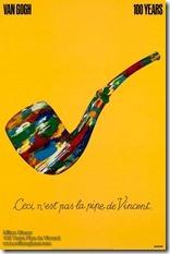 Milton Glaser Vincent Pipe Poster