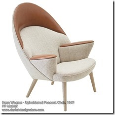 Hans Wegner - Upholstered Peacock Chair
