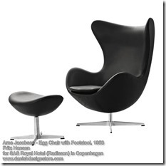 Arne Jacobsen - Egg Chair with Footstool