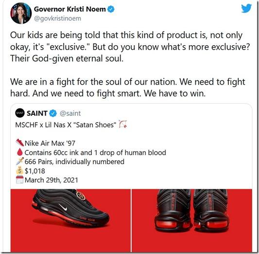 Governor vs Satan shoes