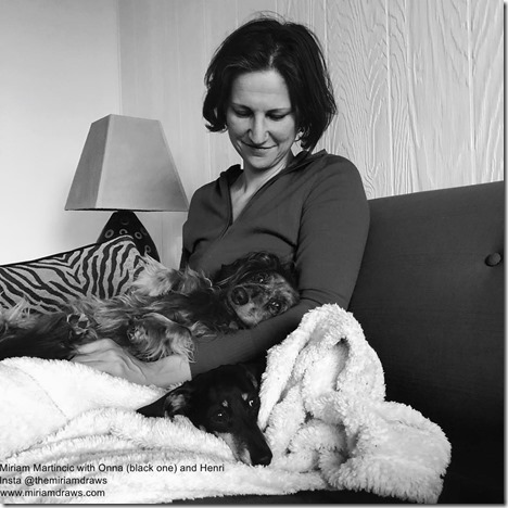 Miriam Martincic with dogs