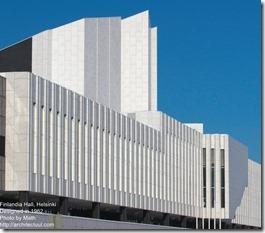 Alvar Aalto. Finlandia Hall in Helsinki