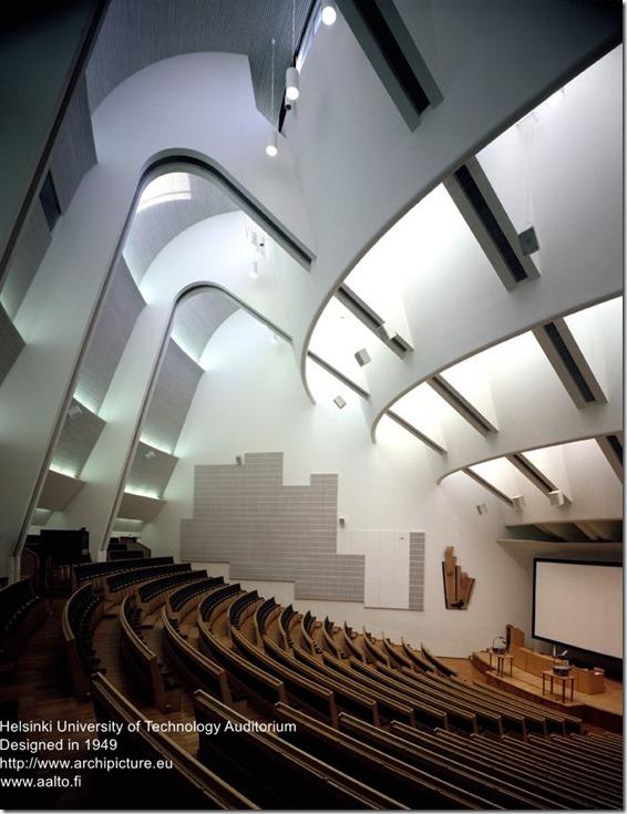 Alvar Aalto. Helsinki University of Technology Auditorium