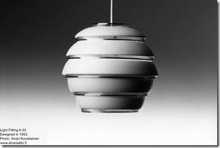 Alvar Aalto. Light Fitting A 33
