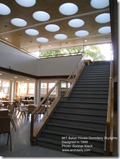 Alvar Aalto. MIT Baker House Dormitory Skylights