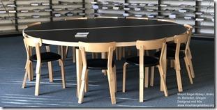 Alvar Aalto. Mount Angel Abbey Library Furniture