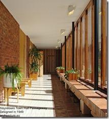 Alvar Aalto. Säynätsalo Town Hall Passageway