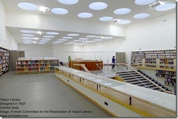 Alvar Aalto. Viipuri Library. Cental Desk