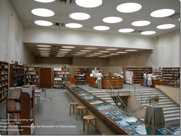 Alvar Aalto. Viipuri Library. Lending Hall