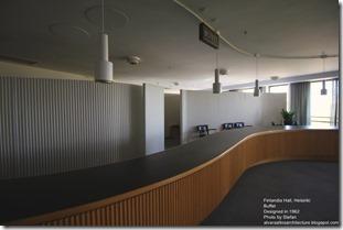 Alvaro Aalto. Finlandia Hall in Helsinki. Buffet