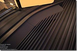 Alvaro Aalto. Finlandia Hall in Helsinki. VIP balcony